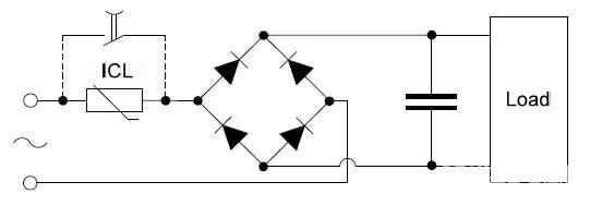 负温度系数NTC热敏电阻在开关电源、UPS电源、电子节能灯中的应用是十分常见的,因为需要抑制开机浪涌电路、降低损耗,原理就是电阻随温度升高而降低。 对于开关电源特别是输入回路电路有大电解的电路开机瞬间的冲击电流非常之大,对于如何计算NTC传感器 的功率、R25电阻值(温度为25时的NTC阻值)及大功率电源是否可应用NTC等还是有些不同看法的,以上问题对NTC热敏电阻的计算及选用等进行一些讨论,希望能起到抛砖引玉的作用,一个比较理想的NTC应用电路如下图所示,NTC上并联一个继电器的触电,上电后继电器吸通短